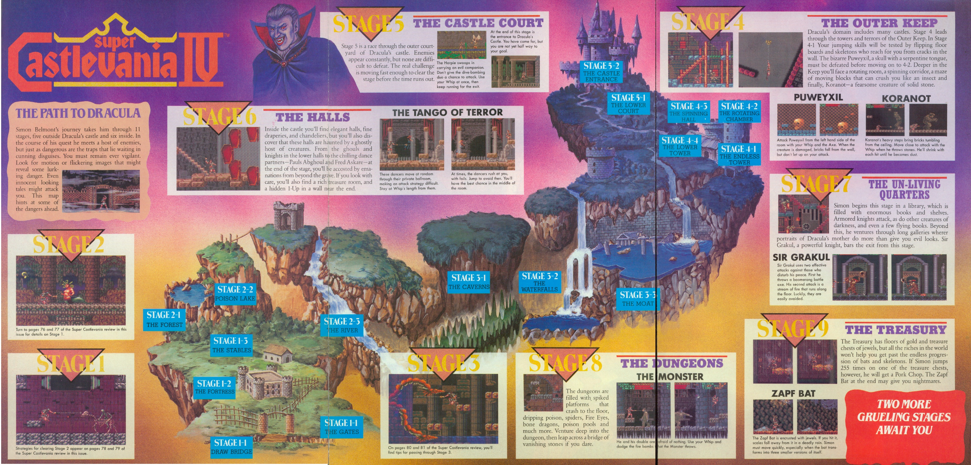 Castlevania World Map.Vampire Killer A Castlevania Gallery Translation Resource